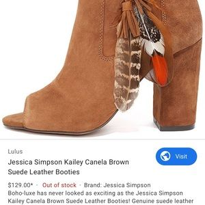 Suede Ankle Boots by Jessica Simpson